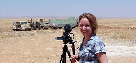 Alba Sotorra bei den Aufnahmen zum Film »Commander Arian«. Foto: albasotorra.com